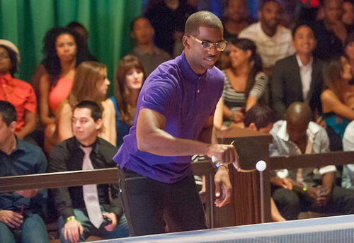 Chris Paul playing ping pong. Photos: Tom Donoghue/www.donoghuephotography.com
