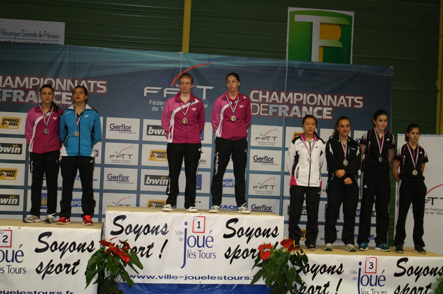 Podium Doubles Juniors Filles