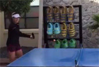 Ana Ivanovic plays Ping Pong