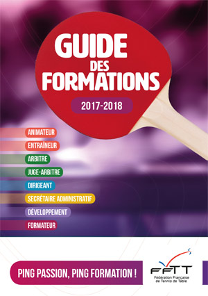 Guide des formations FFTT 2017-2018