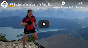 Sabine Winter dans le Ping Pong Everywhere
