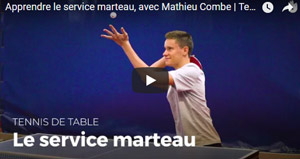 Apprendre le service marteau au tennis de table