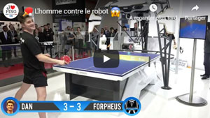 Homme VS Robot au Ping Pong