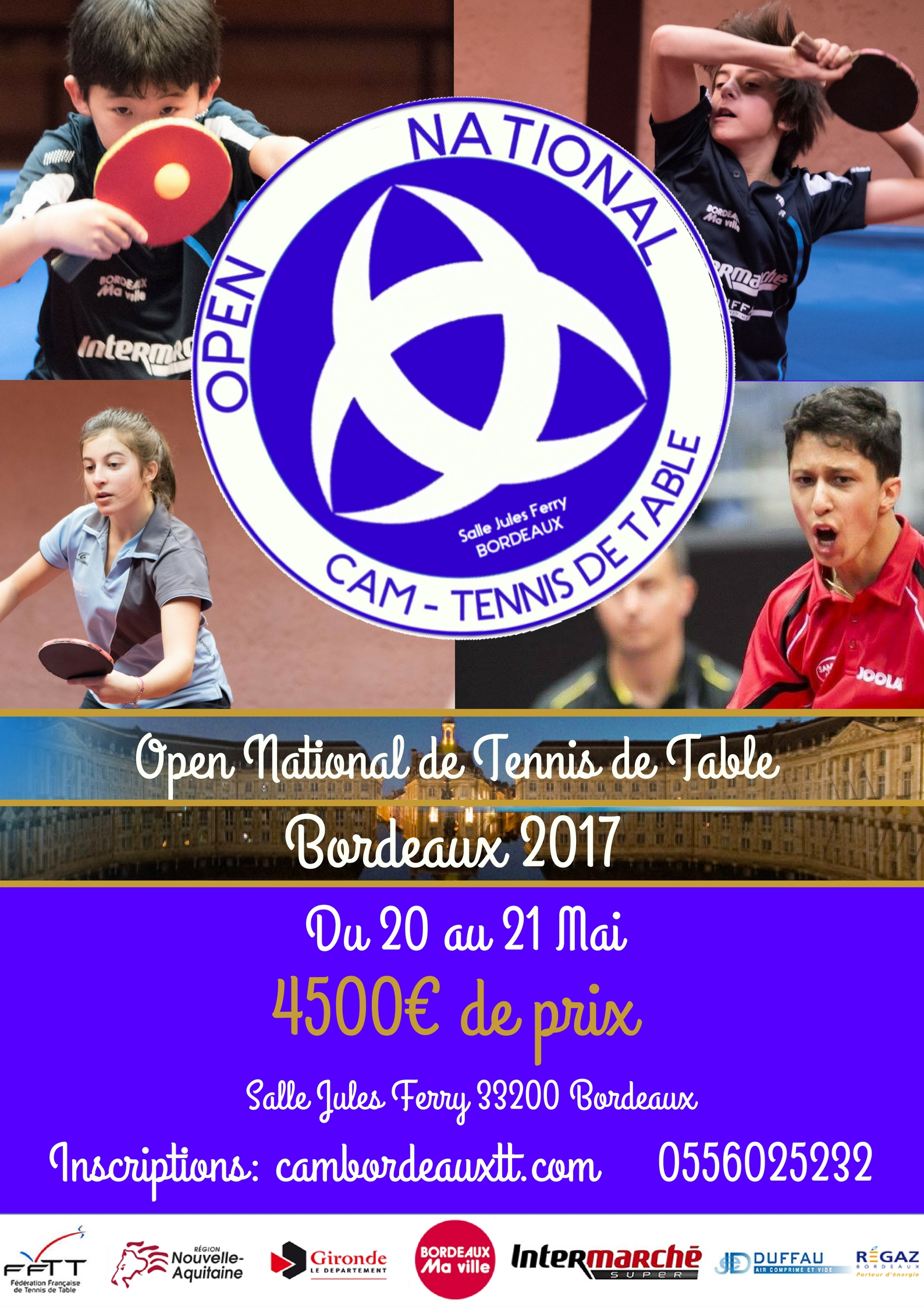 Tournoi national b de bordeaux - Ligue aquitaine tennis de table ...